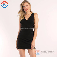 2017 Latest women V neck sexy nighty dress for wholesale