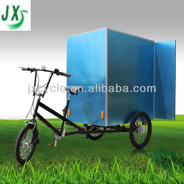 closed cargo tricycle with closed cargo box tricycle