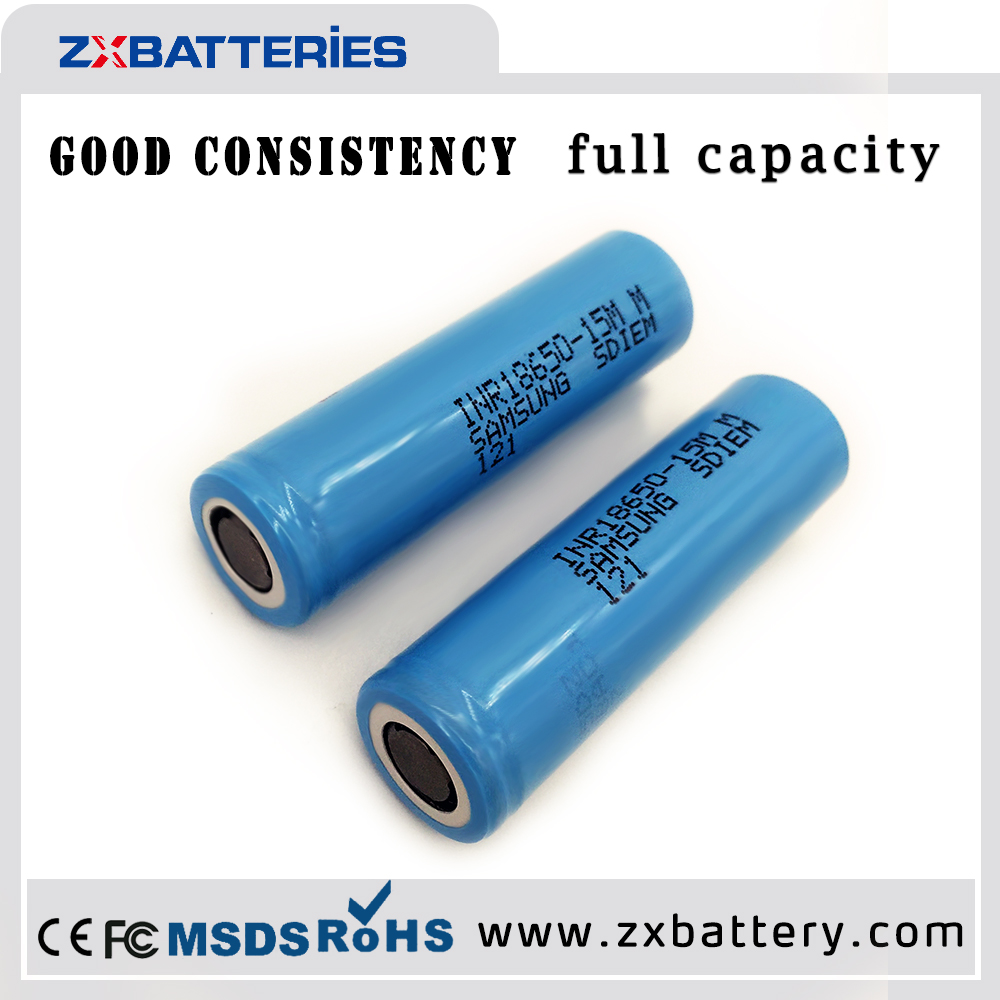 Competitive Price li-ion lgd 18650 battery 1500mah 3.7v icr 18650 isr18650 li ion rechargeable samsung inr18650-15mm battery