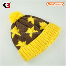 2015 manufacture knitted high quality wool skull hat cap for children
