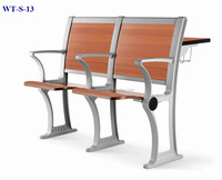 No.WT-S-13 Wooden university student table with seat set
