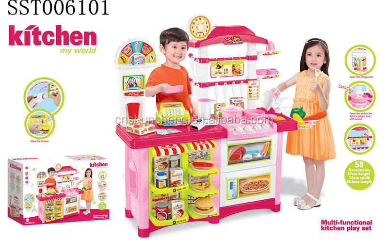 hot children B/<strong>O</strong> fitment & kitchen set toys with music and light