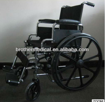 OEM Standard Manual wheelchair with table style armrest and fixed footrest with CE,ISO,FSC BME4617C