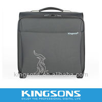 Kingsons excellent quality 14.1 Nylon laptop trolley briefcase