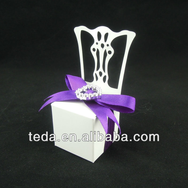 chair shape wedding favor candy box