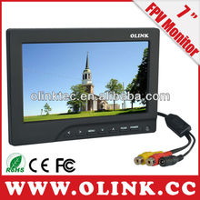 "7"" fpv monitor with Mini HDMI/AV/RF input, Video and DC output"