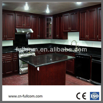 Antique dark cherry solid wood kitchen cabinets buy for Cherry wood kitchen cabinets price
