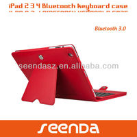 Detachable Wireless Keyboard Case for iPad 2/3/4 Bluetooth ABS Keyboard Leather Case