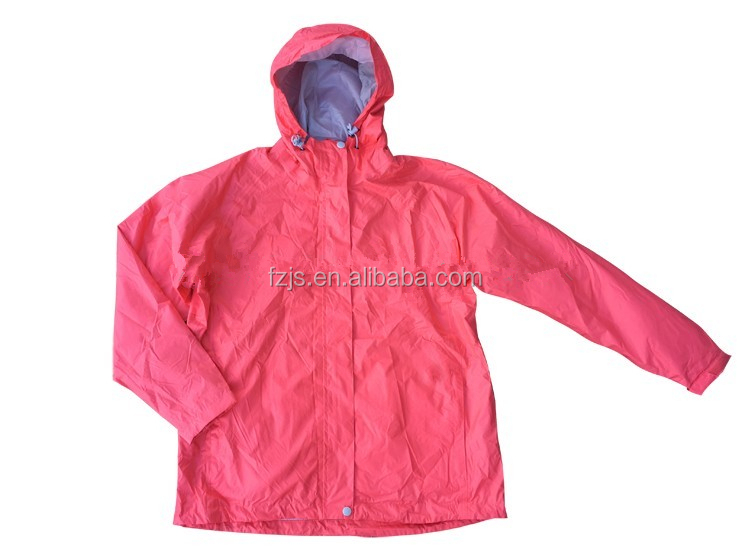New Fashional Waterproof Breathable Women's Rain Jacket