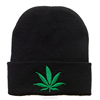 Maple Leaves Knitted Skullies Beanies Hat For Men Women's Hat Beanie Hip Hop , Winter Outdoor Warm Motorcycle Ski Cap Black
