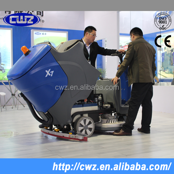 Automatic electric floor tile cleaning machine