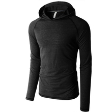 Mens no pocket plain black hoodies wholesale blank pullover hoodies