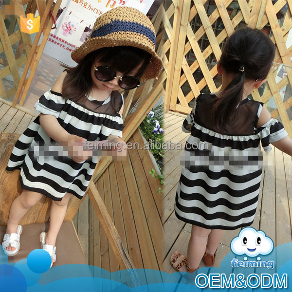 Latest fashon baby cotton frocks designs hand embroidery sport style casual high quality korean kids dress for girl