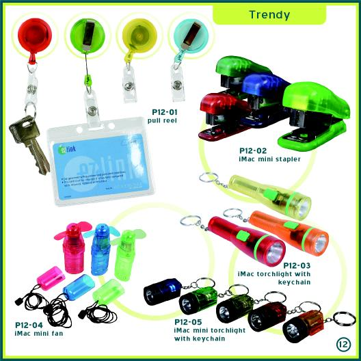 Corporate Gifts Singapore - Lanyard Pull Reel, Mini Stapler, Stationery Set, Mini Torch Light, Mini Battery Fan