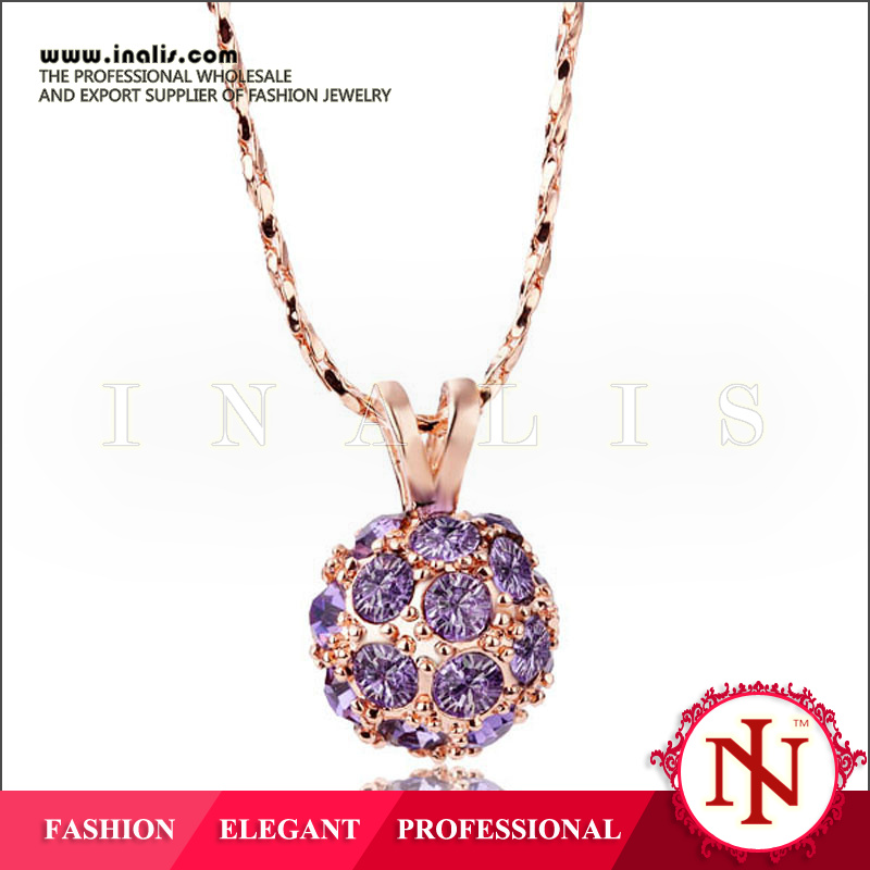 2014 2014 exotic chain necklace with round ball pendant N219