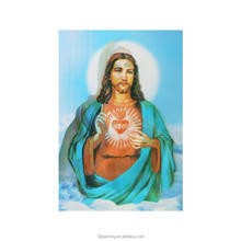 Home Decoration 3D Plastic printing 3D pictures 3D Lenticular Picture of Jesus and Virgin Mary