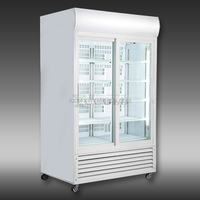 300 - 1400 DOUBLE GLASS DOORS UPRIGHT SHOWCASE COOLER