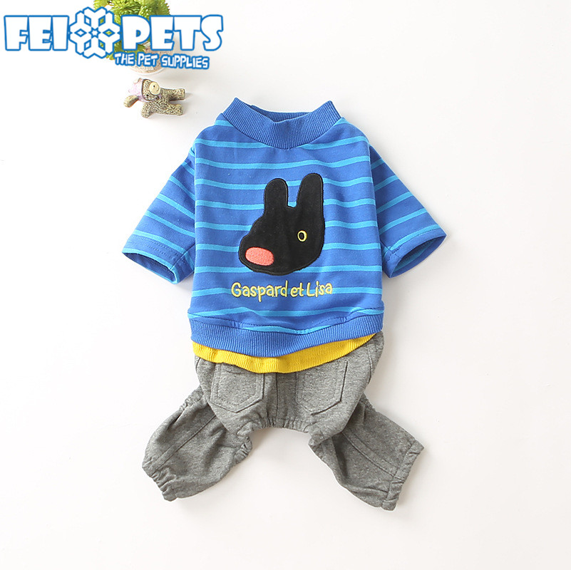 Funny Dog Jumpsuits Pet Cotton Four Legs Clothes Lovable Dog Clothing
