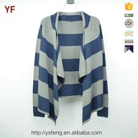 Latest Design Winter Striped Knit Cardigan Sweater For Young Girls