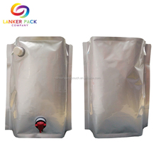 Large Capacity Custom Aluminum Foil Beer Pouch With Spout