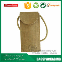Personalized rope drawstring wedding jute bag for favor