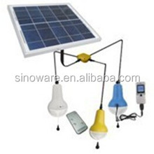Home solar light kits with 10W solar panel system for Afica rarul home indoor lighting
