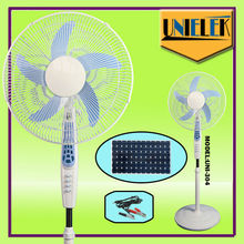 Low noise 12v Solar Stand fan Solar fan with BLDC Motor Ac/dc operated fan