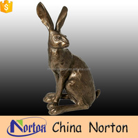 christmas ornament customized life size bronze rabbit sculpture for sale NTBH-S776X
