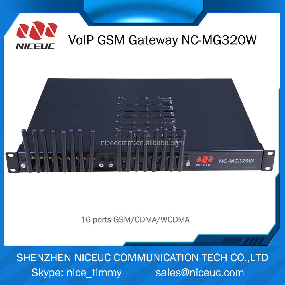 NICEUC Wireless Voice Gateway 16 Sim Card SIP Gsm Gateway With Imei Change GoIP 32 Channel GoIP Device