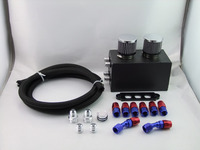 HOSO RACING Series Oil Catch Can Kit Breather Box Turbo 4 Port