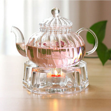 glass heat resistant candle holder watmer teapot warmer base
