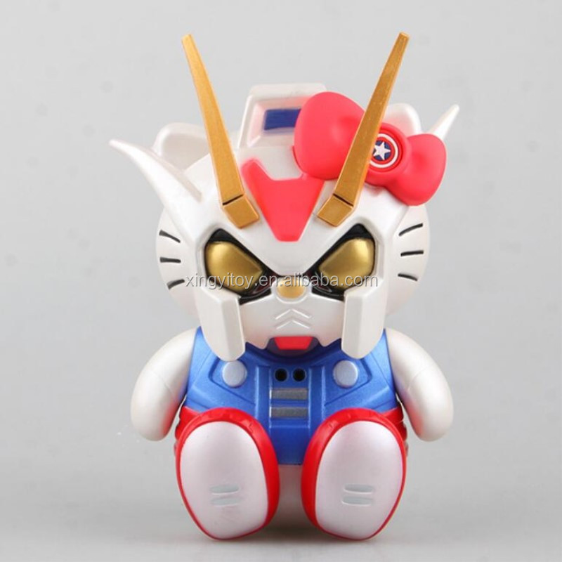 Hello Kitty Cos Mobile Suit Gundam 15cm cute toy action figure