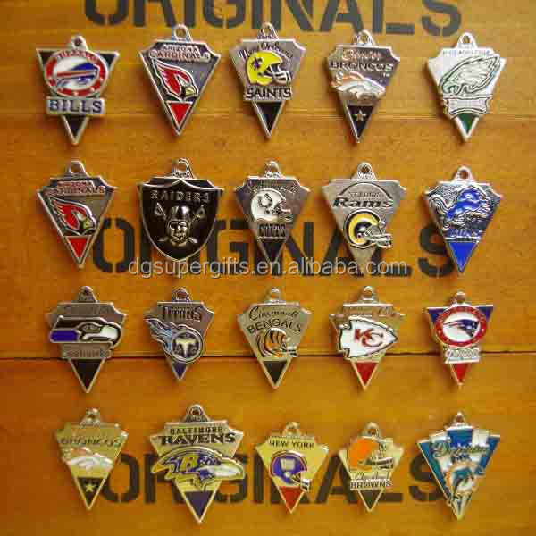 Hot selling metal charms seattle charm metal pendant National Football League