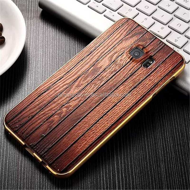 hard metal frame mobile phone case ,blank wood cover for iphone, case for iphone 6