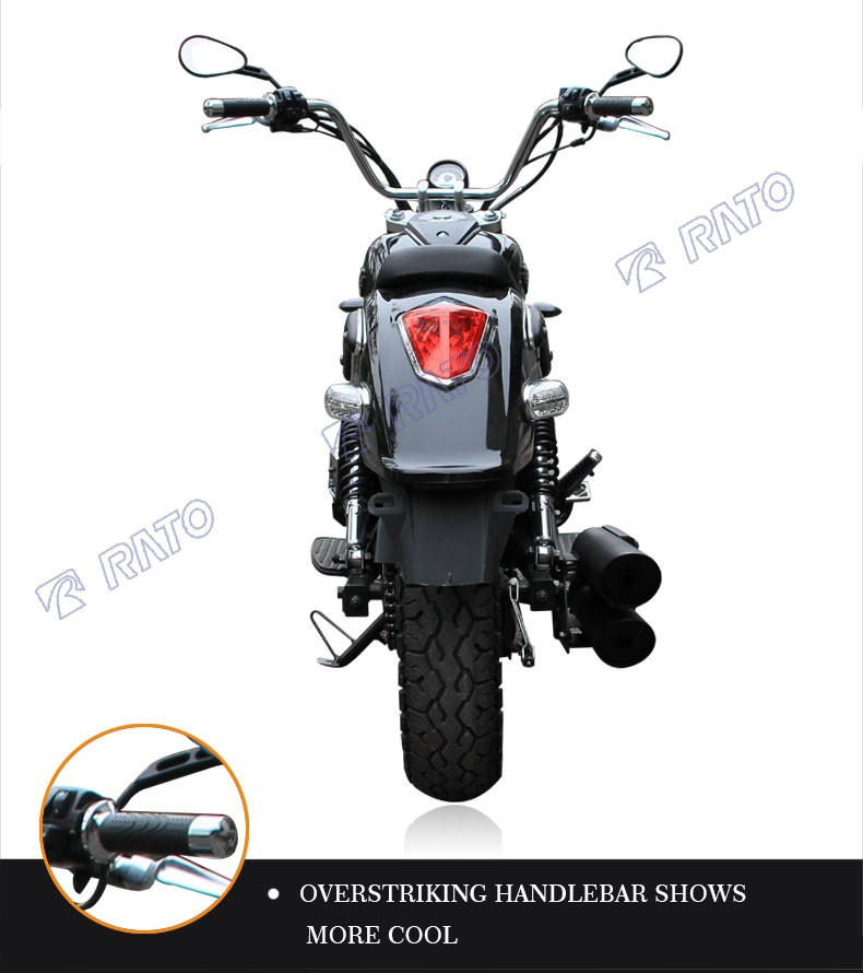 Chinese factory direct price new design black chopper motorcycle