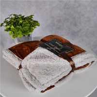 Hangzhou best price super warm double ply heavy cotton silk blanket