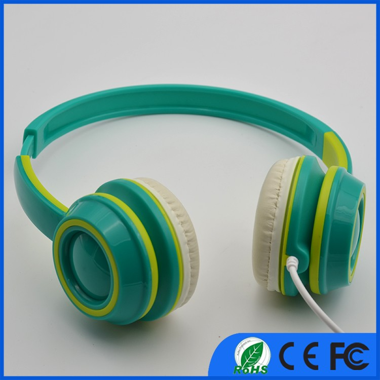 Corded over ear headphone auriculares phone auricular acupuncture Colorful headphones