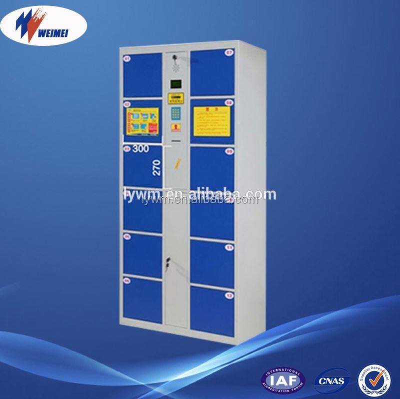 12 doors steel gym locker with smart electronic locks for 12 door lockers