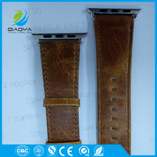 Classic style cowhide genuine leather watch strap band wholesale