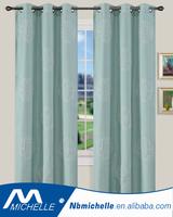 2017 Modern style Grommet Window Embroidery Linen Curtain Panel