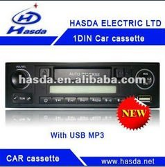 One din car cassette MP3 player