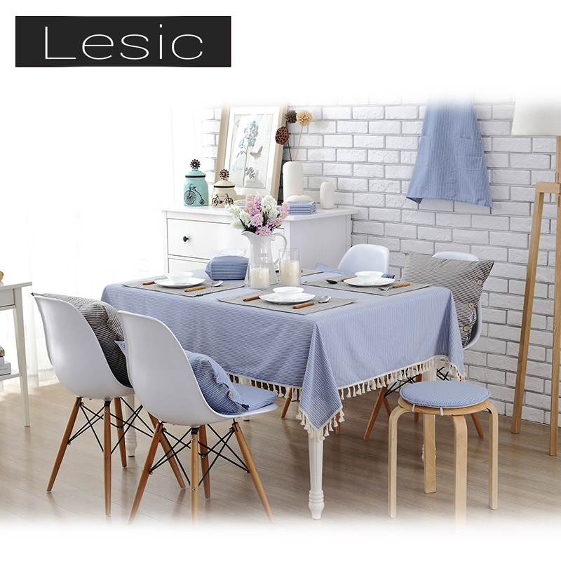 Delicate Texture Stipe Heat Resistant Table Cloth