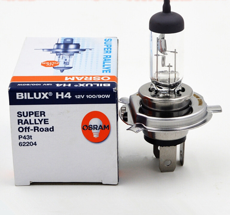 High Power Car Double Headlight Bulb 100/90W P43t H4 Osram 62204