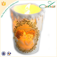 resin gifts for All Saints' Day angel LED candle