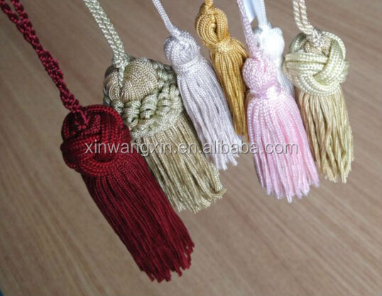 2014 Hot popular Lace beaded tassels for curtains decoration