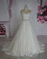 Royal Jewel Neck Sequins A Line Lace Long Light Ivory Wedding Dress Sleeveless Wedding Gowns