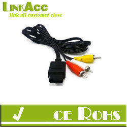 Linkacc1D6C Video Lead TV RCA Cable for SNES Super Nintendo N64 64 Gamecube GC CompositeAV Video Lead TV RCA Cable for SNES Supe