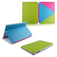 fashion smart colorful leather pu flip cover for ipad air