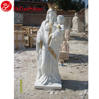Hand Carved Antique Western white marble garden statue Virgin Mary Sculpture