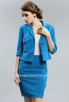 Fashion garment 2012 newest elegent casul skirt suits